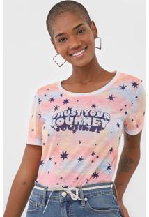 Camiseta Cantão Journey Azul/Rosa