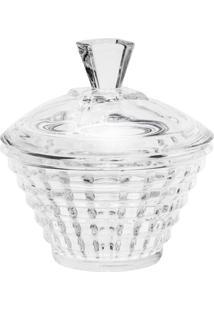 Bomboniere Rojemac De Cristal Com Tampa Diamond Incolor - Kanui