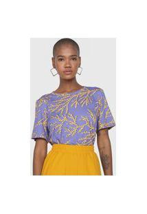 Camiseta Forum Corais Roxa/Amarela