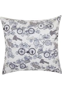 Capa Para Almofada Stm Home Infantil Veludo Bikes 42X42Cm Preto