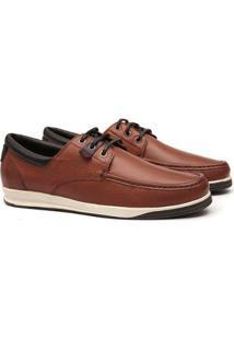 Sapato Deckshoes Samello Baldo Couro Masculino - Masculino