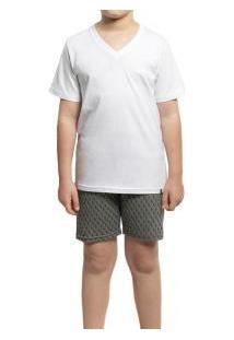 Pijama Curto Masculino Lupo Kids (20044-001) Algodão