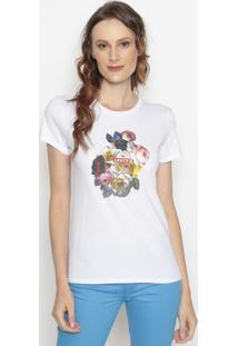 "Camiseta ""Levi'S®"" Floral- Branca & Amarelalevis"
