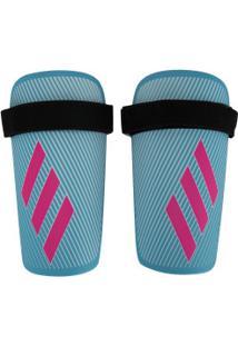 Caneleira De Futebol Adidas X Lite - Adulto - Azul Cla/Rosa