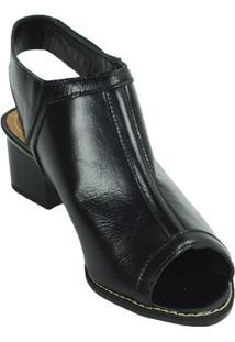 Sandália Boot Salto Médio Lelive - Feminino-Preto