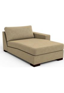 Chaise Lounge Trevoux Veludo Caramelo