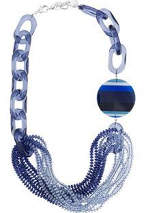 Emporio Armani Colar Com Contas - Azul