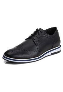 Sapato Brogue Loafer Esporte Fino Nobre Confort Com Cadarço