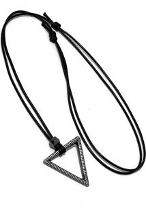 Colar Marshop Triângulo Cinza