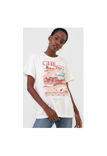 Camiseta Colcci Girl From Rio Off-White