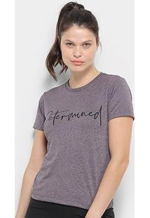 Camiseta Gonew Determined Feminina - Feminino-Roxo