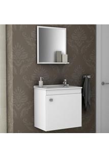 Armário De Banheiro Siena Branco - Bechara Móveis