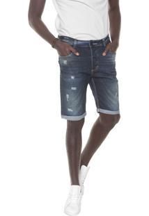 Bermuda Jeans Nicoboco Reta Egegik Azul