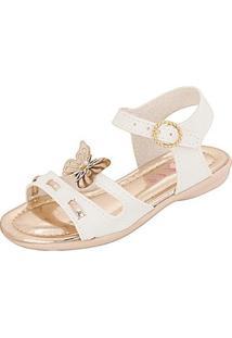 Sandália Infantil Plis Calçados Alegria Feminina - Feminino-Branco