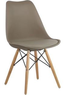 Cadeira Marrom Nude Charles Eames Dsw Soft Wood Em Pp