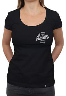 Morning People Please - Camiseta Clássica Feminina