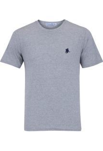 Camiseta Polo Us Gola Careca 606Tsgcb - Masculina - Cinza Azul Esc d50c2a24c7458