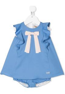 Hucklebones London Vestido Sem Mangas Com Detalhe De Laço - Azul