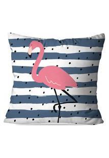 Capa De Almofada Avulsa Decorativa Stripes Flamingo 35X35
