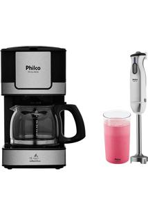 Kit Cafeteira Ph16 Mixer Pmx700 E Copo Capuccino Philco 220V