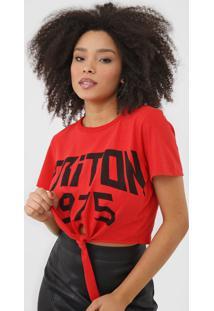 Camiseta Triton Amarraã§Ã£O Vermelha - Vermelho - Feminino - Algodã£O - Dafiti