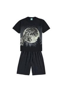 Pijama Infantil Masculino Estampa Que Brilha No Escuro Kyly - Big Stone - 14