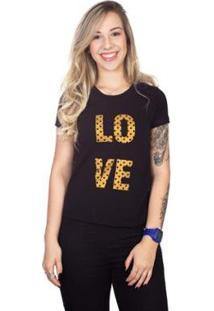 Camiseta 4 Ás Manga Curta Love Feminina - Feminino