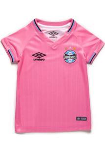 Camisa Infantil Umbro Grêmio Outubro Rosa 2018/19
