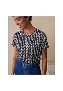 Amaro Feminino Camiseta Estampada Special, Heart Foliage