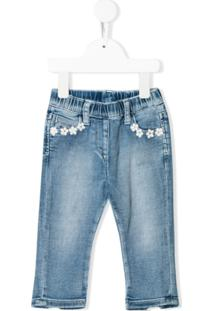 Monnalisa Calça Jeans Slim - Azul
