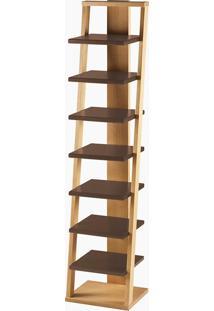 Prateleira Stairway Marrom Laca M51