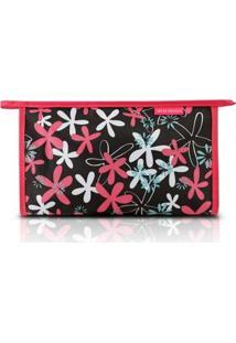 Necessaire Envelope Jacki Design Nylon - Feminino-Pink+Preto