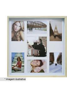Kapos Painel Color Wood Para 7 Fotos 10X15Cm & 20X25Cm Bege Claro & Br