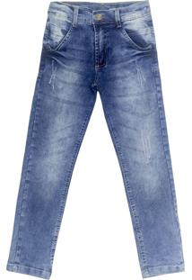 Calça Look Jeans Skinny Jeans Azul