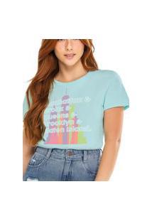 Camiseta Feminina Enfim 1000083893 Verde