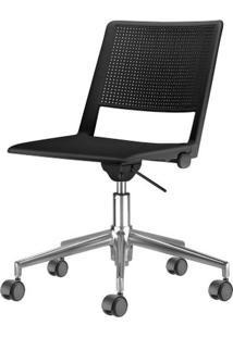 Cadeira Up Assento Preto Base Rodizio Piramidal Em Aluminio - 54292 Sun House