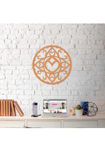 Escultura De Parede A Laser Mandala Coração Abs