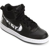 72a77b4eb99 Tênis Nike Court Borough Mid Infantil - Masculino-Preto+Branco