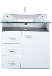 Gabinete De Banheiro Classic 1 Pt 3 Gv Branco E Preto