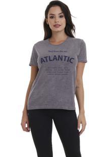 Camiseta Feminina Jay Jay Atlantic Soul Chumbo - Kanui
