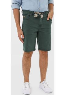 Bermuda Colcci Reta Pespontos Verde