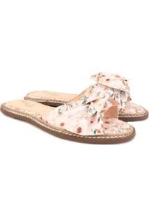 Rasteira Trivalle Shoes Escama Floral