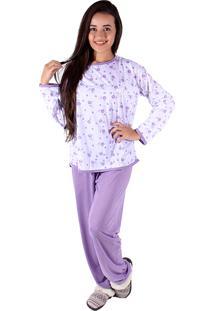 Pijama Linha Noite Longo Lilás