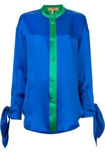Escada Camisa Bicolor - Azul