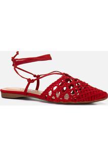Rasteiras-Flats Feminino Milano Scarlet 11151