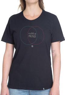 Tudo É Político - Camiseta Basicona Unissex
