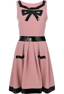 Moschino Vestido Com Contraste - Pink & Purple