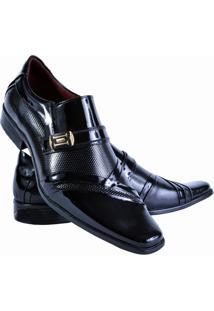 4f1676ca6 Sapato Social Gofer Estilo Italiano Em Couro Legítimo Masculino - Masculino -Preto