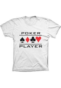 Camiseta Baby Look Lu Geek Poker Player Branco