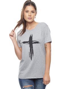 Camiseta Bossa Brasil Cruz Mescla - Kanui